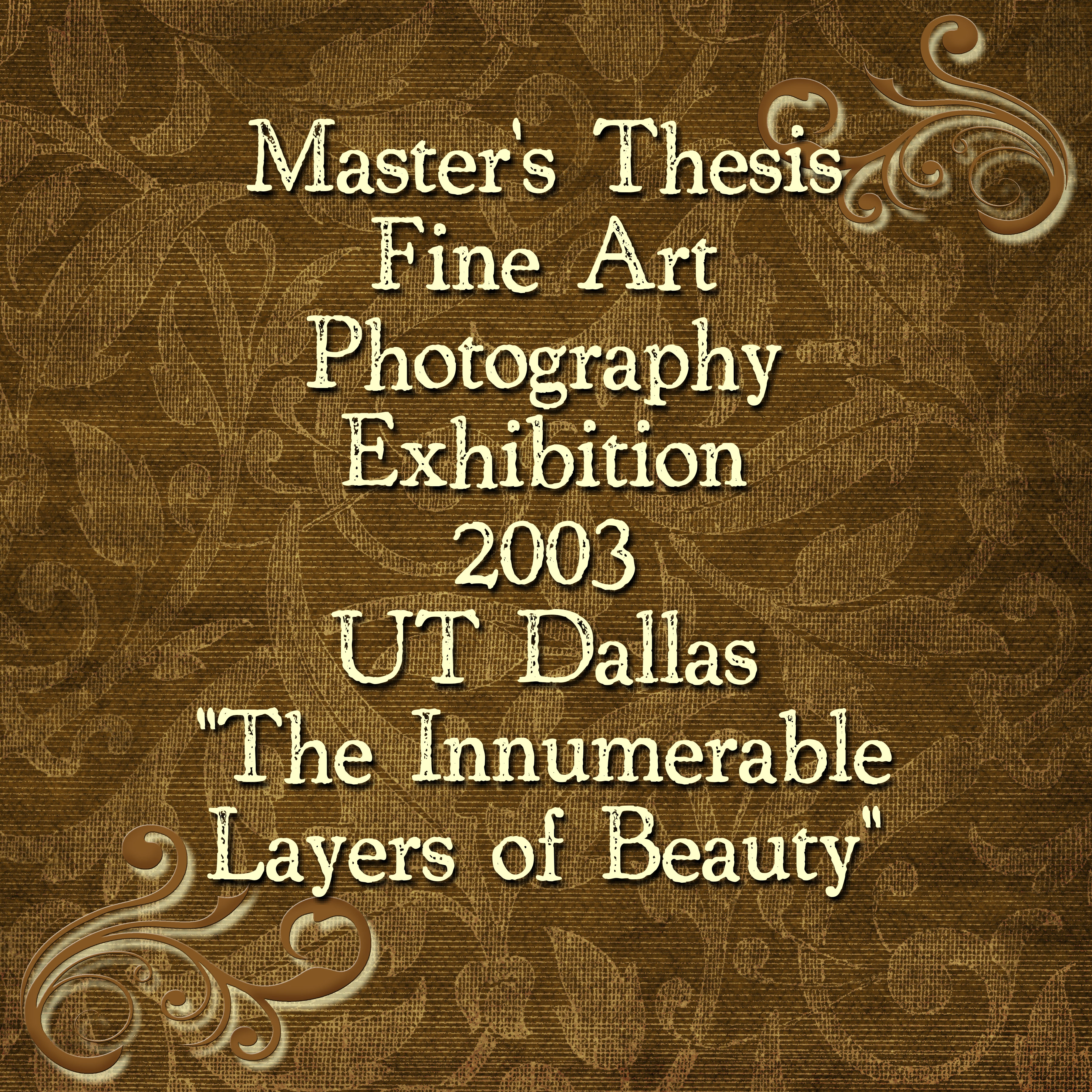 Master thesis nomenclature